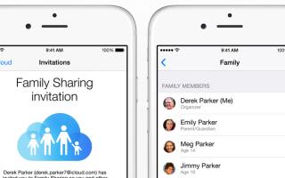 Осуществление совместного семейного доступа iOS 8