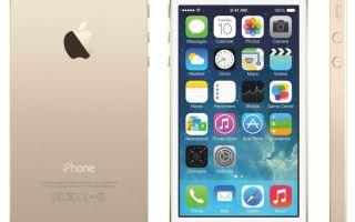 iPhone 5s 16 Gb gold — характеристика, описание модели.