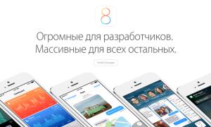 iOS 8 — описание,характеристика и самый верный обзор.