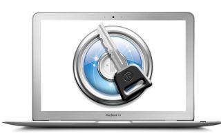 Установка защитного пароля на макбуке или папке