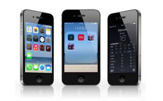 Особенности работы iOS 7 на iPhone 4s, полезные советы