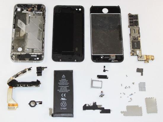 Phone 4S v razobrannom vide