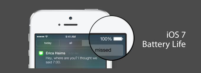 Vlijanie sed'moj iOS na batareju