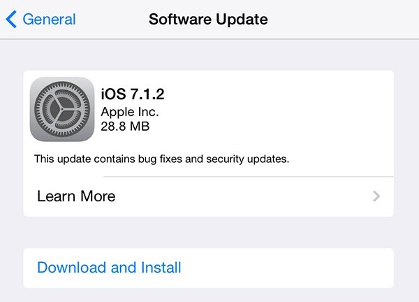 Kak ubrat' obnovlenie iOS 7