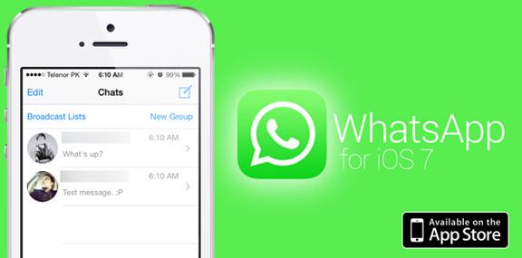 Whatsapp dlja iOS 7