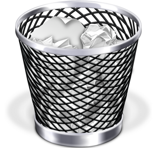 Udalenie ikonok na MacBook