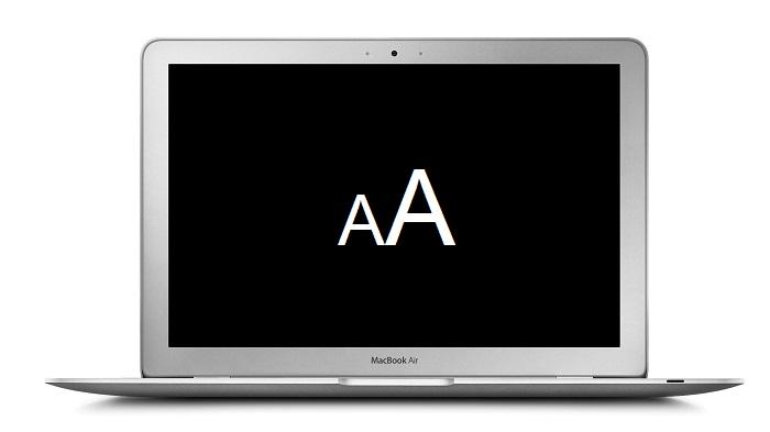 Uvelichenie masshtaba na Mac OS X