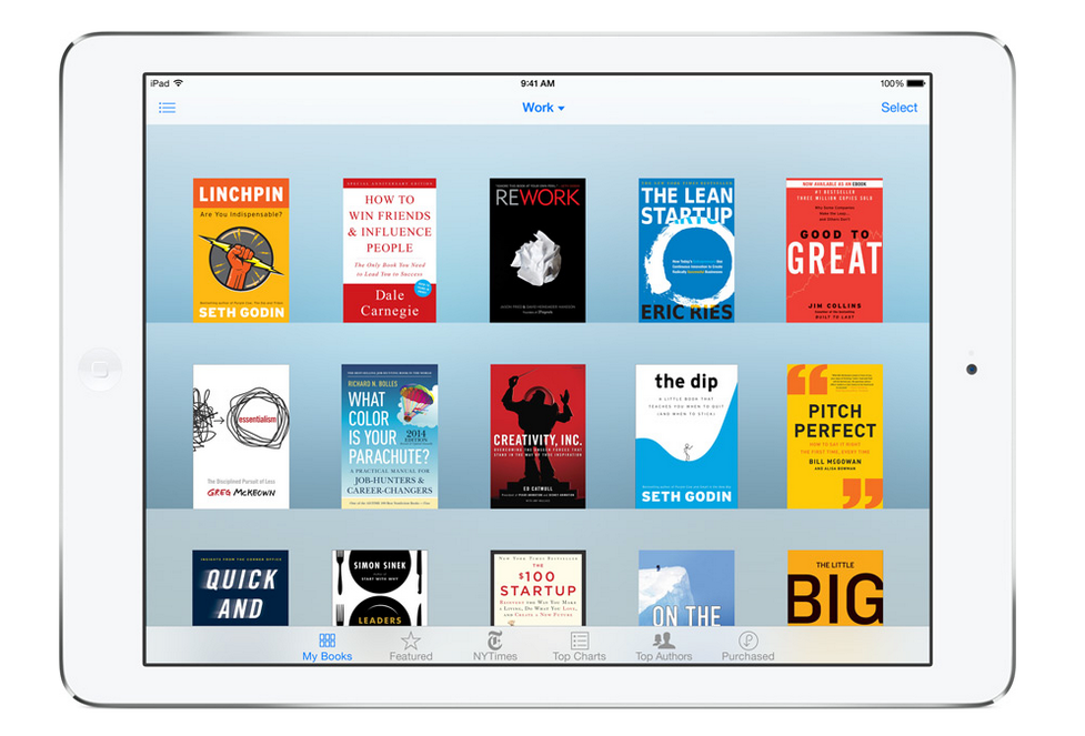iBooks prilozhenie po umolchaniju